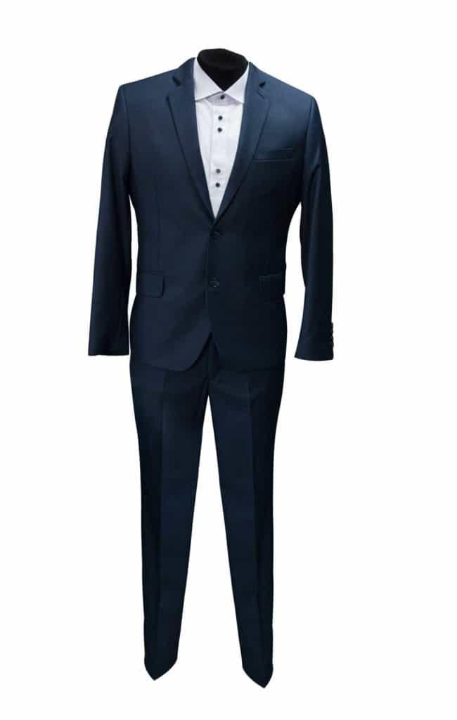 garnitur granatowy ciemno niebieski, tani garnitur, nietypowe rozmiary, odzież męska poznań