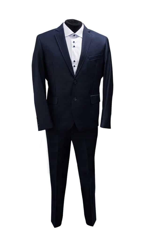 garnitur granatowy, tanie garnitury, moda męska, sklep z garniturami