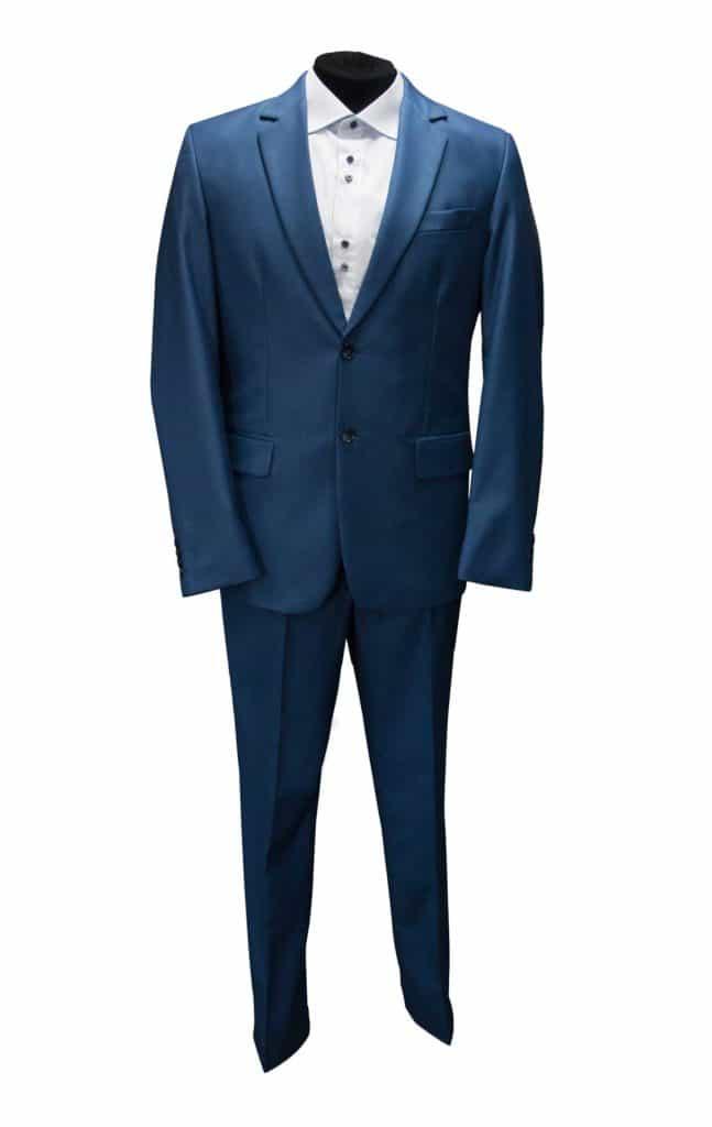 garnitur chabrowy kobalt, niebieski, modny garnitur, sklep z garniturami poznań