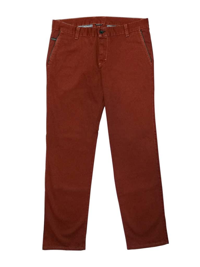 Spodnie chinosy rude, musztardowe